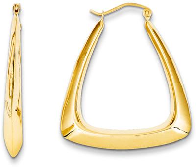 Fancy Gold Hoop Earrings in 14K Yellow Gold