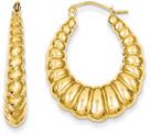 Scalloped Hoop Earrings in 14K Gold