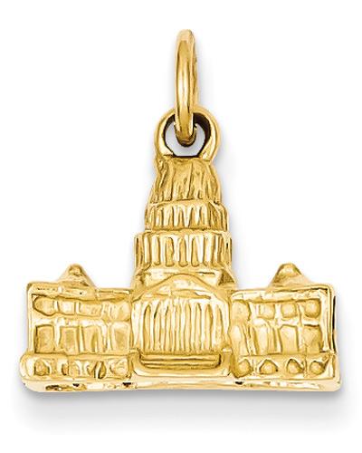 US Capitol Building Pendant, 14K Gold