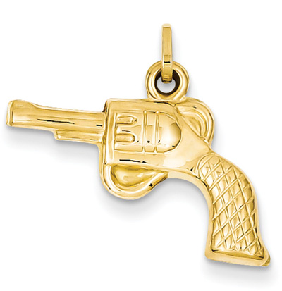 Revolver Gun in 14K Gold