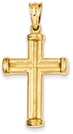 Men's 14K Yellow Gold Cross Pendant