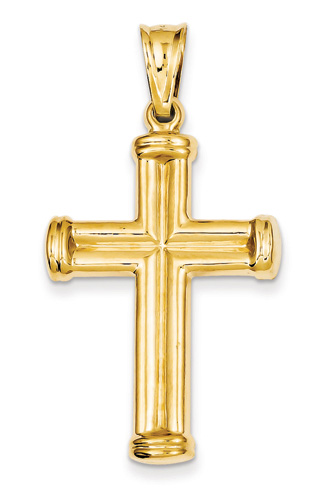 Mens 14k yellow gold cross pendant aloadofball Image collections
