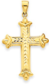 Reversible Cross Pendant, 14K Yellow Gold