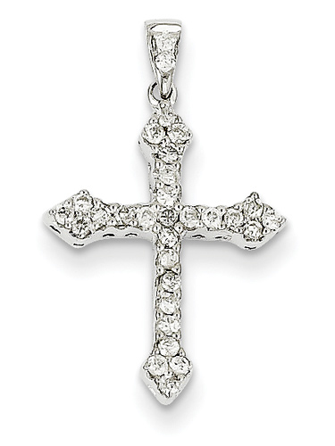 1/4 Carat Passion Cross Diamond Pendant, 14K White Gold