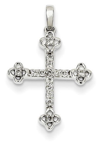 Apostles' Diamond Cross Necklace, 14K White Gold