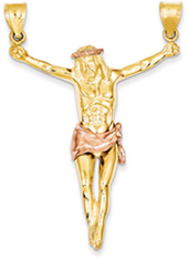 Extra Large Corpus Pendant, 14K Rose and Yellow Gold