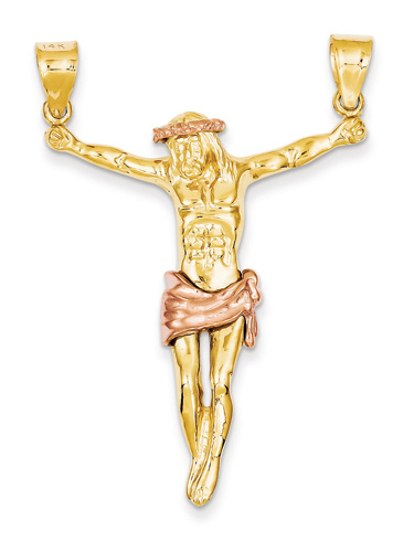 Large Corpus Pendant in 14K Two-Tone Rose Gold