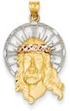 Jesus Pendant in 14K Tri-Color Gold