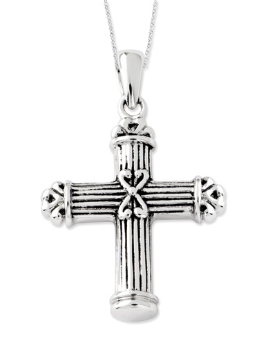 Antique Cross Remembrance Ash Holder Pendant