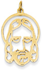Jesus Pendant, 14K Yellow Gold