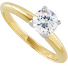 Moissanite Solitaire Ring in 14K Yellow Gold