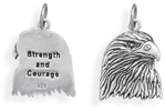 American Eagle Pendant in Sterling Silver