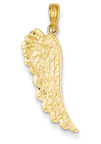 Angel Wing Pendant, 14K Gold