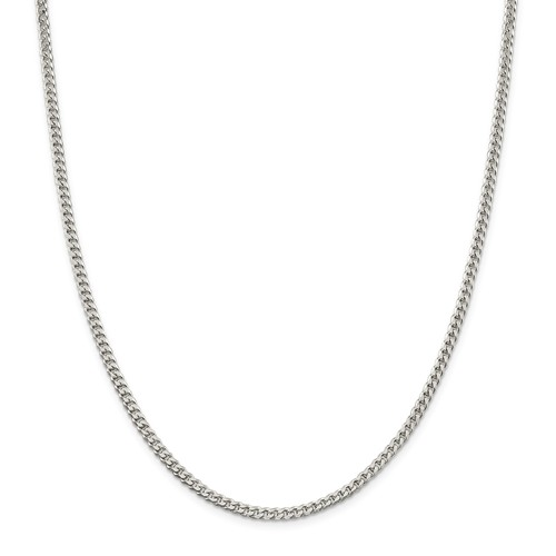 3.15mm Sterling Silver Curb Chain, 30