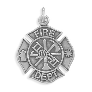 Firefighter Pendant in Sterling Silver