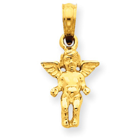 Small Gold Angel Pendant, 14K