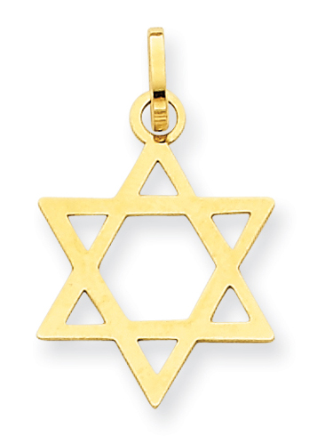 Small 14K Gold Star of David Pendant