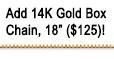 Add 14K Gold Box Chain, 18 Inches