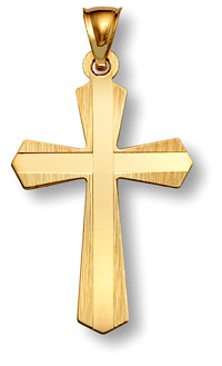 14K Gold Cross - Sword of God