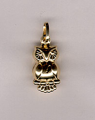 14K Gold Owl Pendant (Pendants, Apples of Gold)