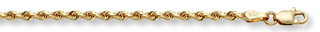 3mm Rope Bracelet, 14K Solid Gold