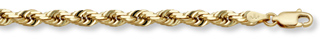 14K Gold 6mm Rope Chain