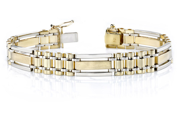 14K Gold Men's Design Bracelet