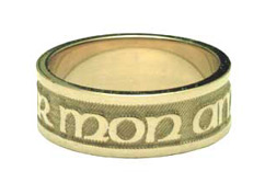 Buy 14K Gold Personalized French Style Wedding Band Ring