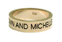 14K Gold Personalized Wedding Band Ring
