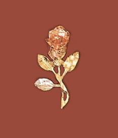 Buy 14K Gold Rose Pendant
