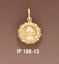 14K Gold Sun Pendant (Pendants, Apples of Gold)