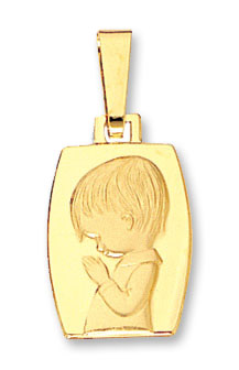 14K Gold Boy Child Pendant