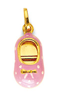 14K Gold Baby Shoe Pendant