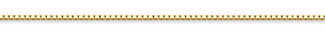 14K Gold Box Chain (1.2mm)