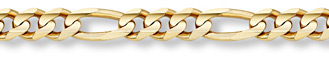 14K Gold 12mm Figaro Link Chain