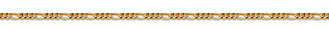 14K Gold 2.5mm Figaro Link Chain