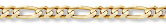 14K Gold 9.5mm Figaro Link Chain
