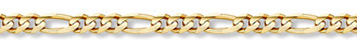 14K Gold 7mm Figaro Link Chain (Necklaces, Apples of Gold)