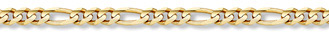 14K Gold 6mm Figaro Link Chain