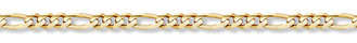 14K Gold 5mm Figaro Link Chain