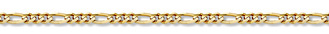4mm Figaro Bracelet in 14K Yellow Gold