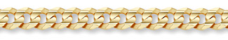 14K Gold 11mm Curb Link Chain
