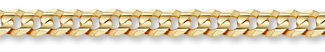 14K Gold 10.5mm Curb Link Chain