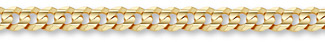 14K Gold 10mm Curb Bracelet (Bracelets, Apples of Gold)