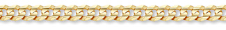 14K Gold 8.5mm Curb Link Chain
