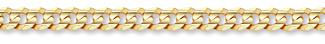 14K Gold 8mm Curb Bracelet