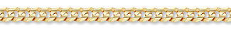 14K Gold 7mm Curb Link Chain