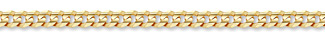14K Gold 6mm Curb Link Chain