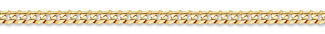 14K Gold 5mm Curb Link Chain