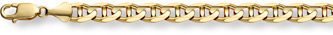 14K Gold 10mm Mariner Link Chain